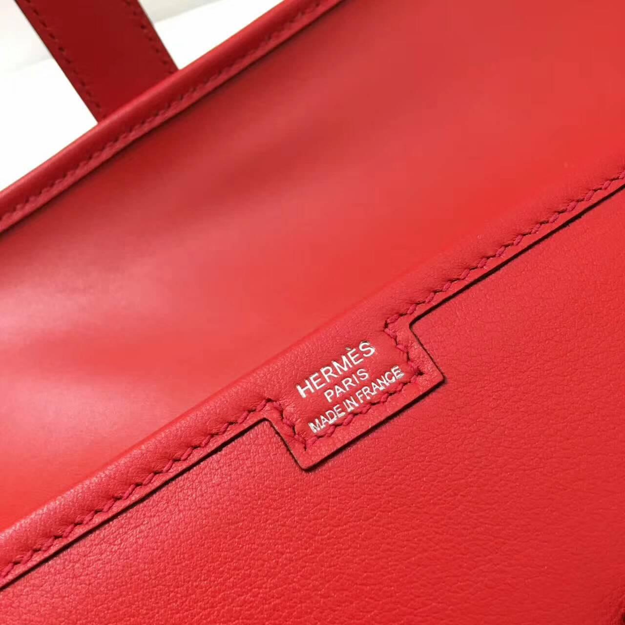爱马仕钱包 Jige Elan 29cm Swift 法国原产小牛皮 Q5 Rouge Casaqbe 中国红