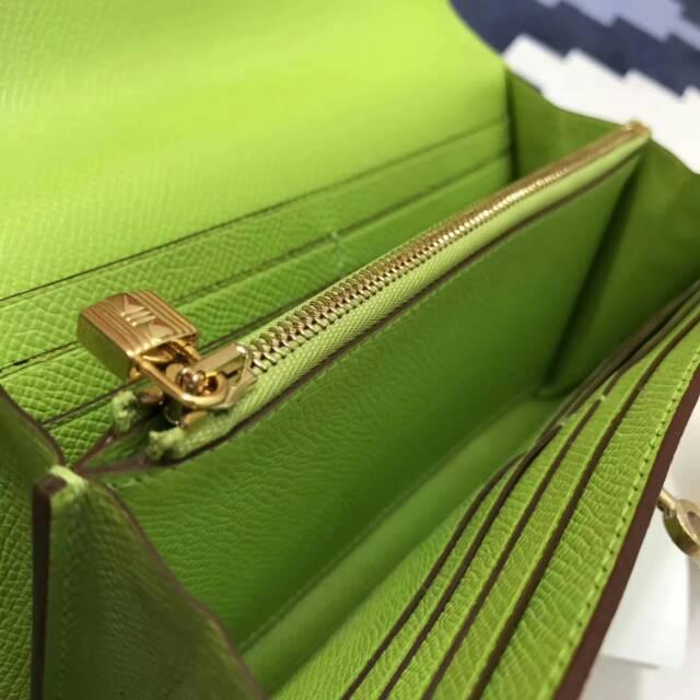 爱马仕Kelly long 21.5cm epsom 6R Kiwi 奇异果绿 糖果绿 金扣 手缝蜡线 看得见的工艺