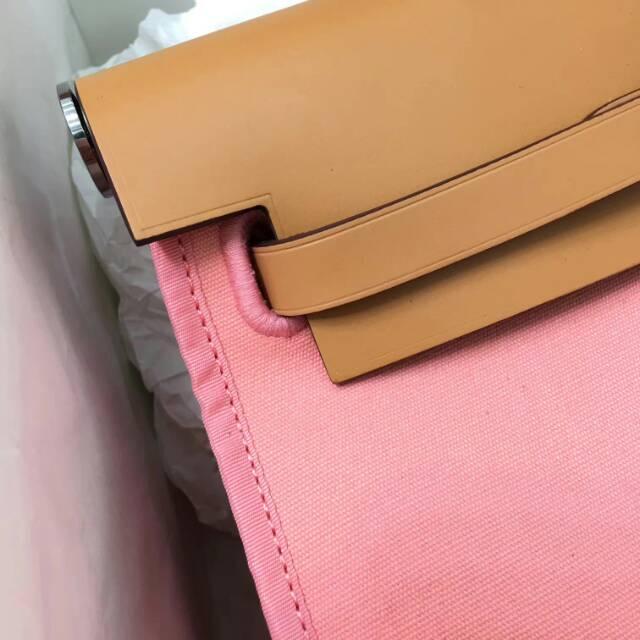 Hermes爱马仕包包 31Herbag 8W Rose Azalee 唇膏粉 粉嫩的少女心