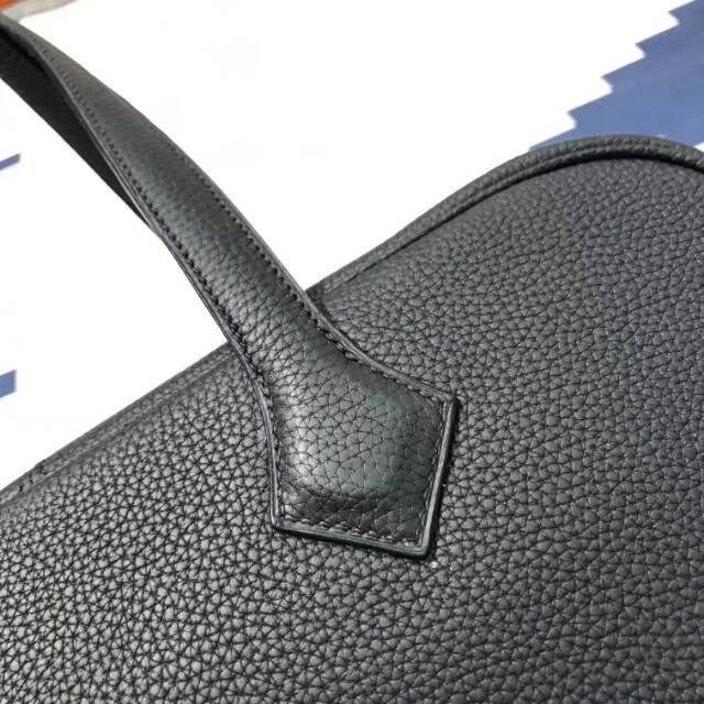 爱马仕包包 Victoria 维多利亚 35cm togo皮 CC89 Nior 黑色 蜡线手工打造 无敌霸气