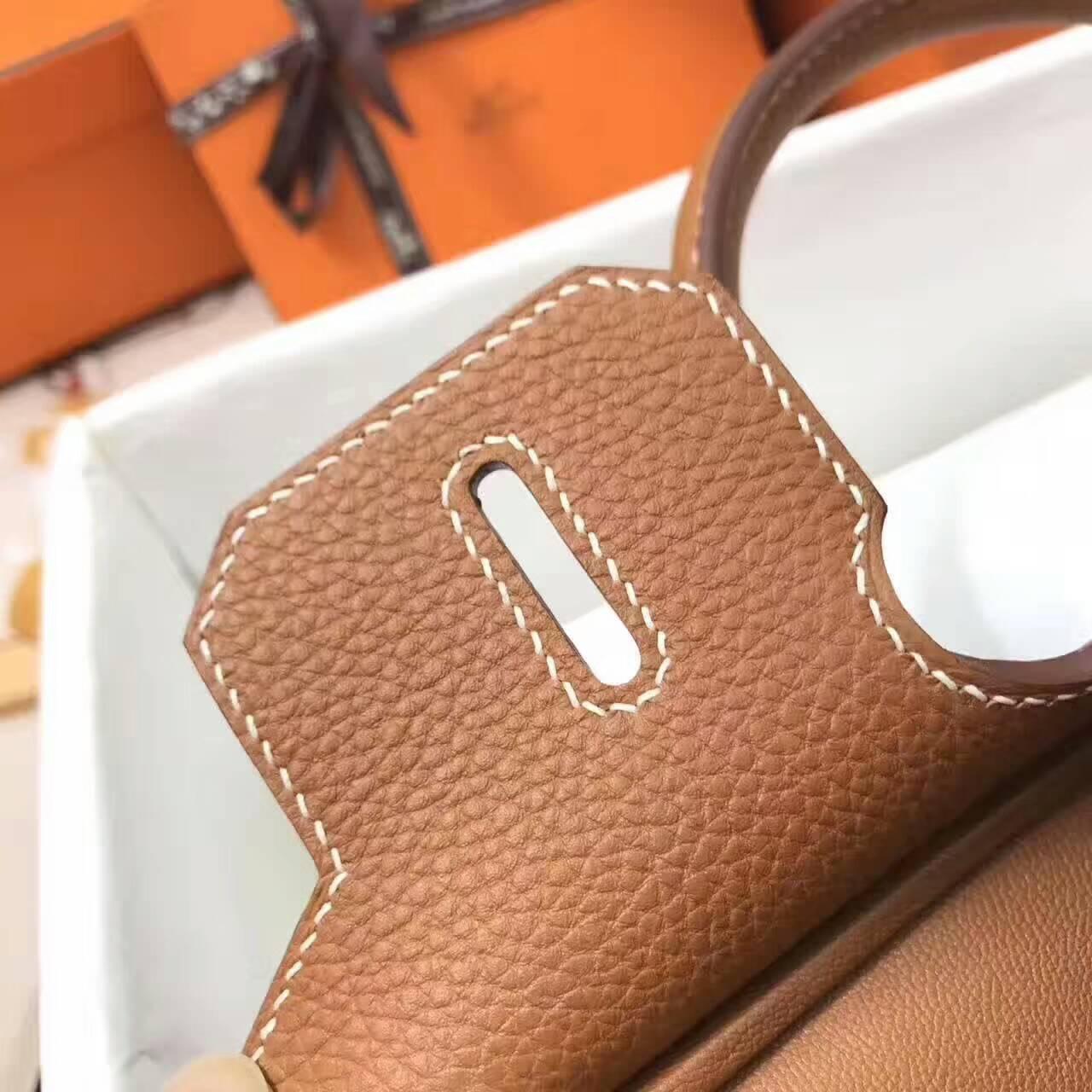 爱马仕铂金包 Birkin 30cm Togo 法国原产小牛皮 37 Gold 金棕 银扣