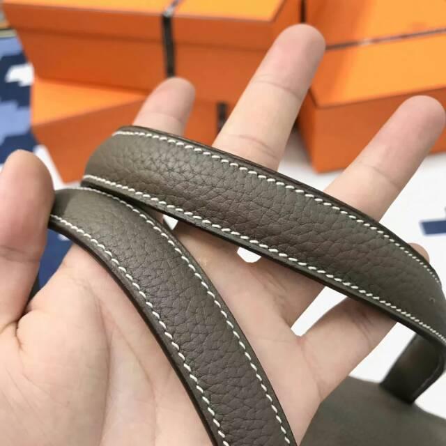 爱马仕包包 Victoria 维多利亚 35cm togo皮 CC18 Etoupe 大象灰 蜡线手工打造 无敌霸气