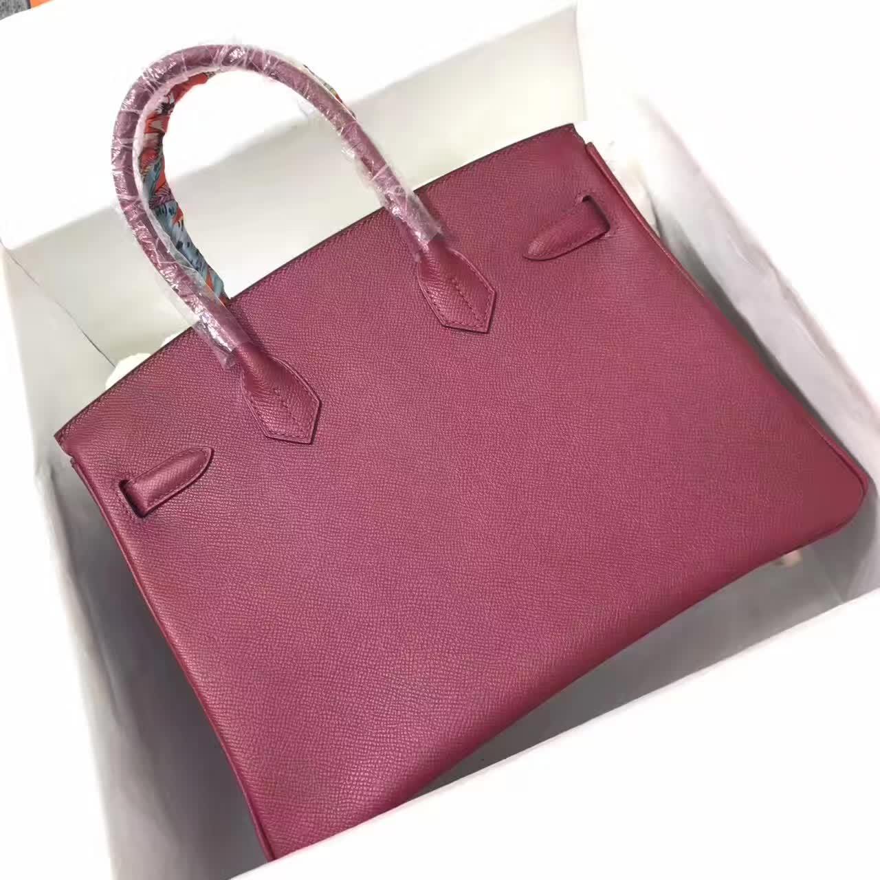 爱马仕铂金包 Birkin 35cm 法国原产epsom皮 蜡线手缝
