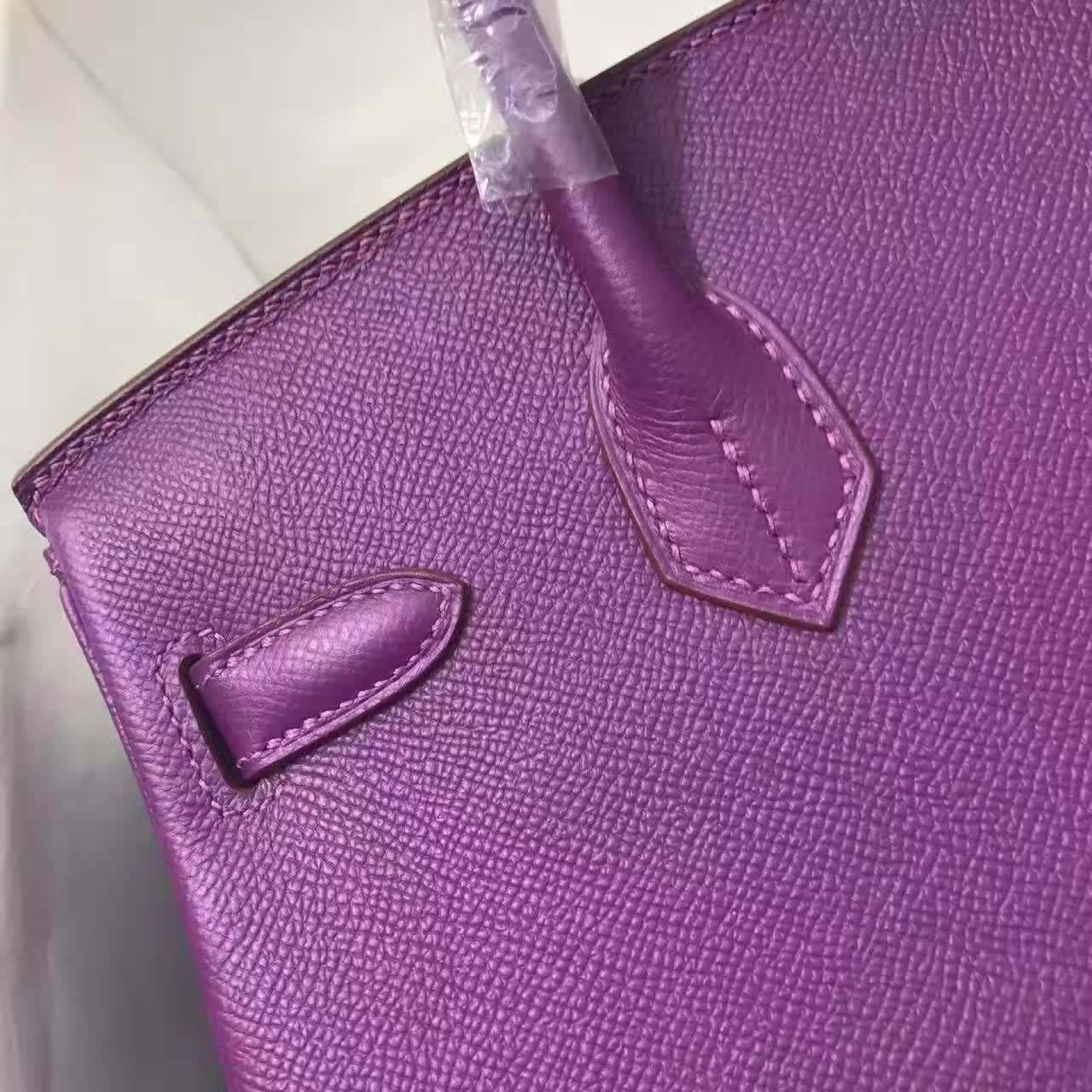 爱马仕铂金包 Birkin 30cm 法国原产epsom皮 蜡线全手缝