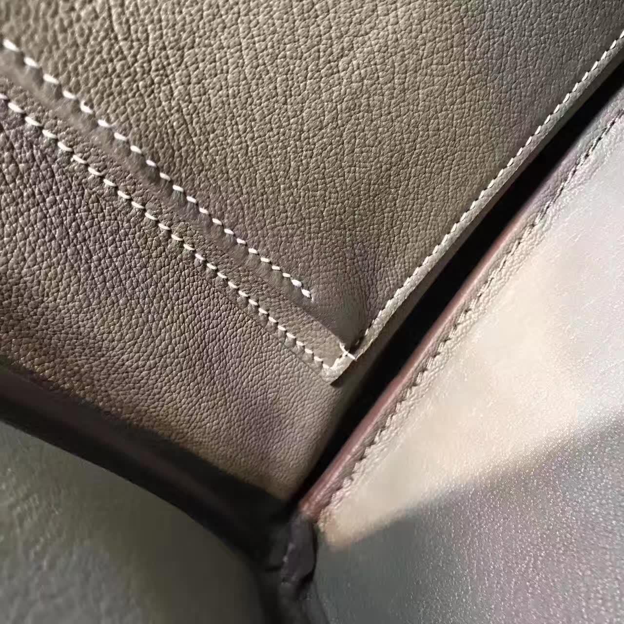 全球代发 爱马仕铂金包 Birkin 30cm 法国原产epsom皮 蜡线手缝