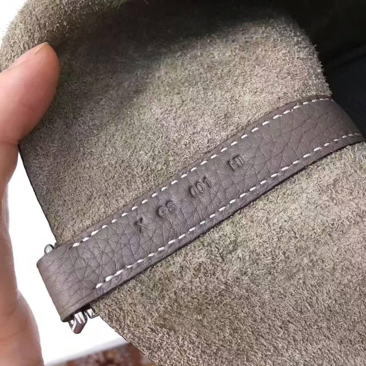 Hermes菜篮子 手工蜡线 18-22cm Togo皮 大象灰 时尚又实用
