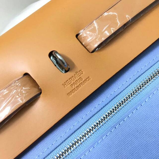 Hermes爱马仕包包 31Herbag 2T Blue Paradis 天堂蓝 清爽夏季风
