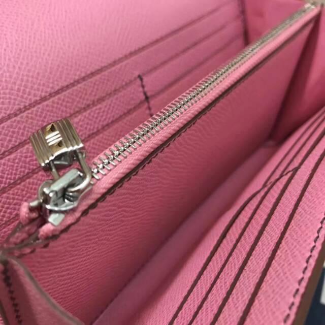 爱马仕Kelly long 21.5cm epsom 5P Pink 樱花粉 银扣 手缝蜡线 看得见的工艺