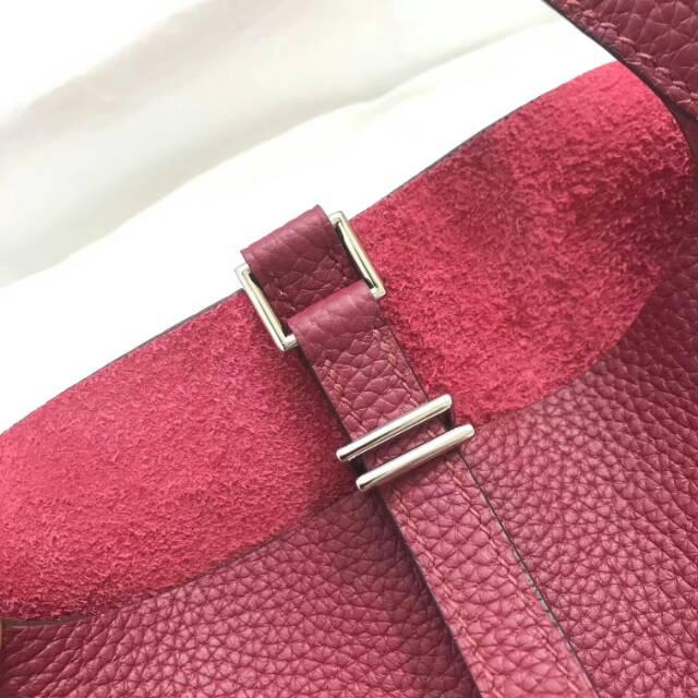 爱马仕菜篮子 Picotin Lock 22cm B5 Rubis 宝石红 蜡线手工缝制
