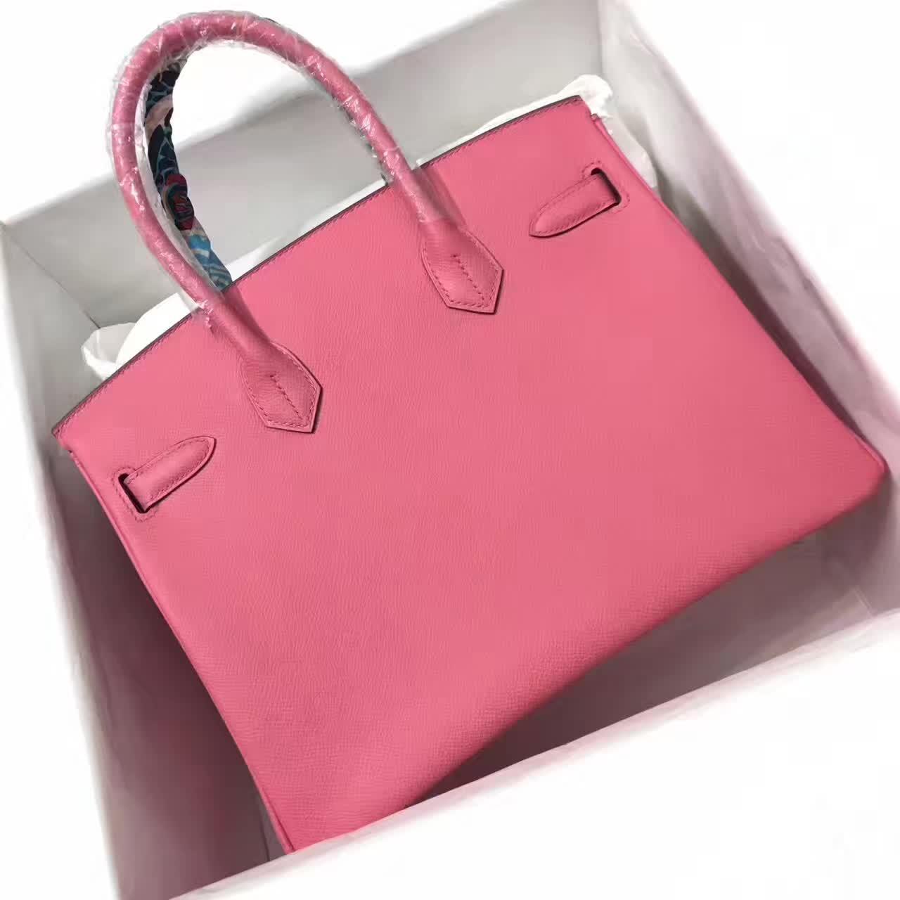 爱马仕全球放货 铂金包 Birkin 30cm 法国原产epsom皮 蜡线全手缝