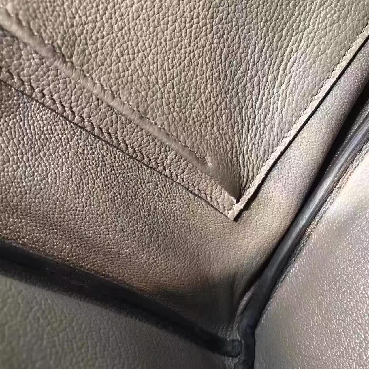 爱马仕全球放货 铂金包 Birkin 30cm 法国原产epsom皮 蜡线手缝
