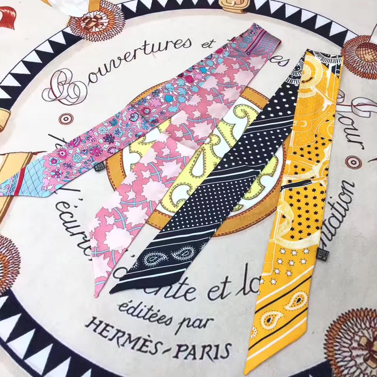 爱马仕包包 多彩丝巾 百搭时尚 多颜色选择