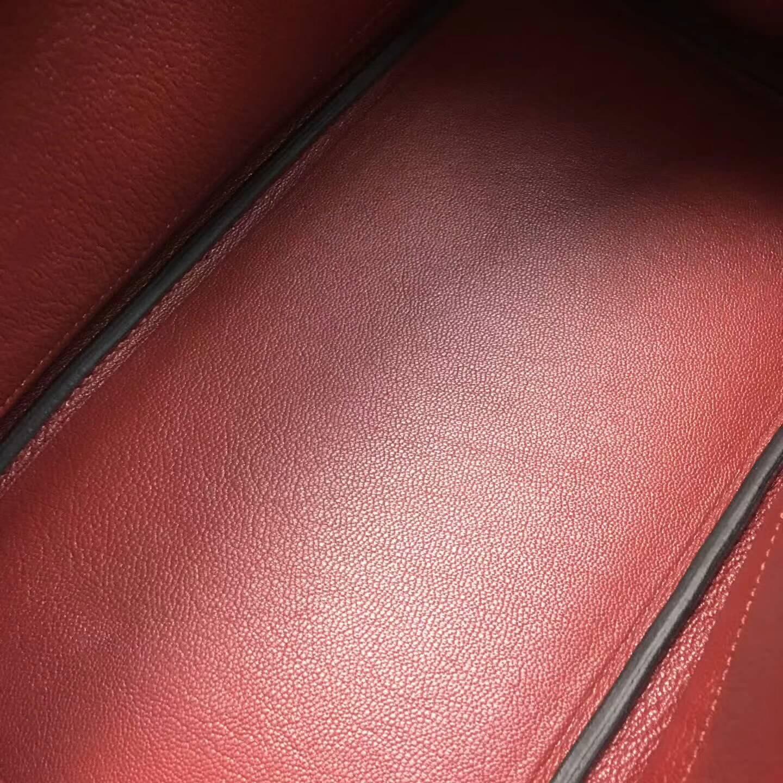 爱马仕铂金包 Birkim 30cm Clemence 法国原产Tc皮 57 Bordeaux 波尔多酒红 银扣