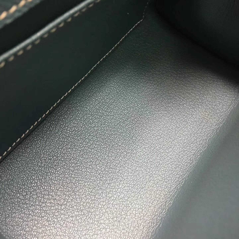 爱马仕包包 Kelly mini 20cm Epsom 法国原产掌纹皮 75 Blue Jean 牛仔蓝 金扣