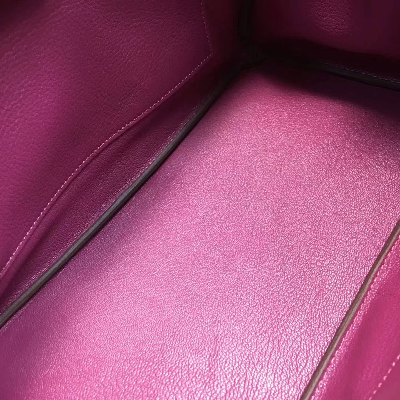 爱马仕铂金包 Birkim 30cm Clemence 法国原产Tc皮 K5 Tosca 托斯卡紫 金扣