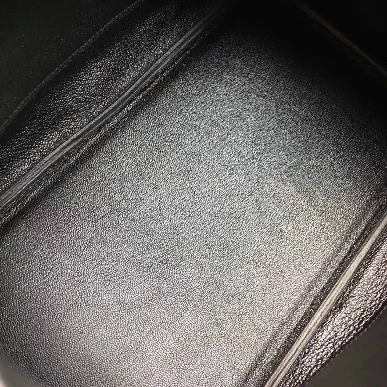 Hermes爱马仕铂金包 Birkin 30cm Clemence 法国原产Tc皮 89 Nior 黑色 银扣