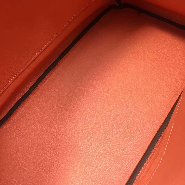 爱马仕铂金包 Birkim 30cm Clemence 法国原产Tc皮 L5 Crevette 龙虾粉 金扣