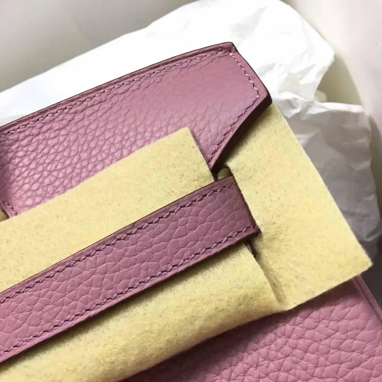 爱马仕铂金包 Birkim 30cm Clemence 法国原产Tc皮 4W Glycine 紫藤色 金扣