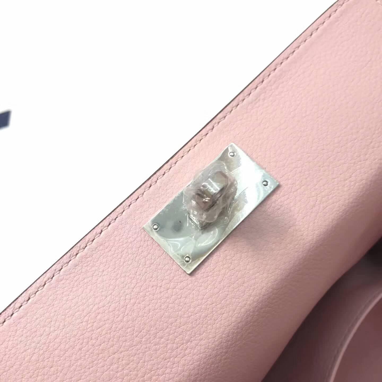 爱马仕全球同步发售 20Toolbox 牛奶包 小胖墩 进口swift皮 3Q Rose Sakura 芭比粉 银扣