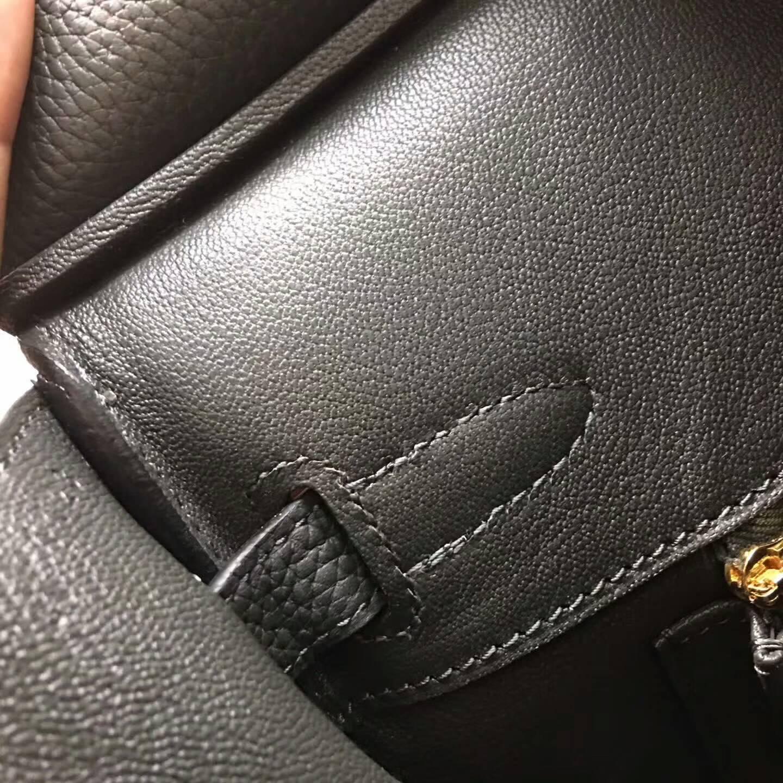 爱马仕铂金包 Birkim 30cm Clemence 法国原产Tc皮 8F Etain 锡器灰 金扣