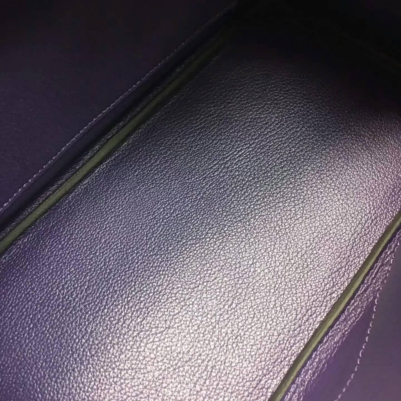 爱马仕铂金包 Birkim 30cm Clemence 法国原产Tc皮 9K Lris 鸢尾花紫 紫罗兰 银扣