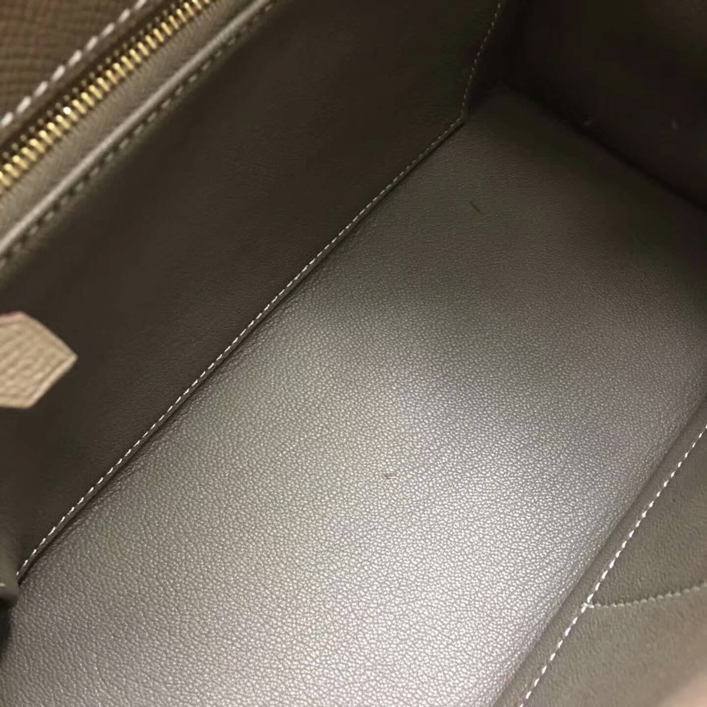 爱马仕Kelly凯丽包28cm 全球代发 Epsom 法国原产掌纹皮 18 Etoupe 大象灰 金扣