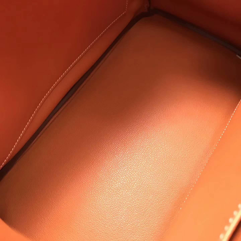 爱马仕包包批发 Ghillies 35cm Swift皮拼鹿皮 金棕色 金扣