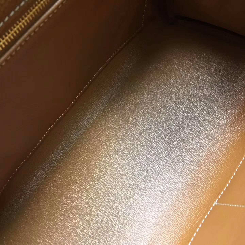 爱马仕Kelly凯丽包28cm 全球代发 Clemence 法国原产Tc皮 37 Gold 金棕土黄 金扣