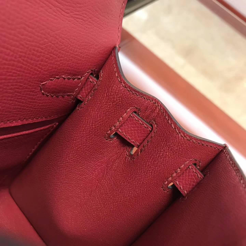 爱马仕包包 Hermes大耳朵 Epsom皮 B5 Rubis宝石红 金扣 小可爱百搭款