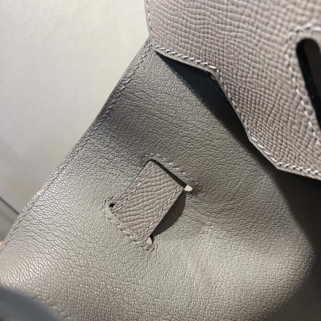 Hermes包包 爱马仕铂金包 Birkin 30cm Epsom M8 Gris Asphalte 沥青灰 公路灰 金扣 手缝蜡线顶级工艺