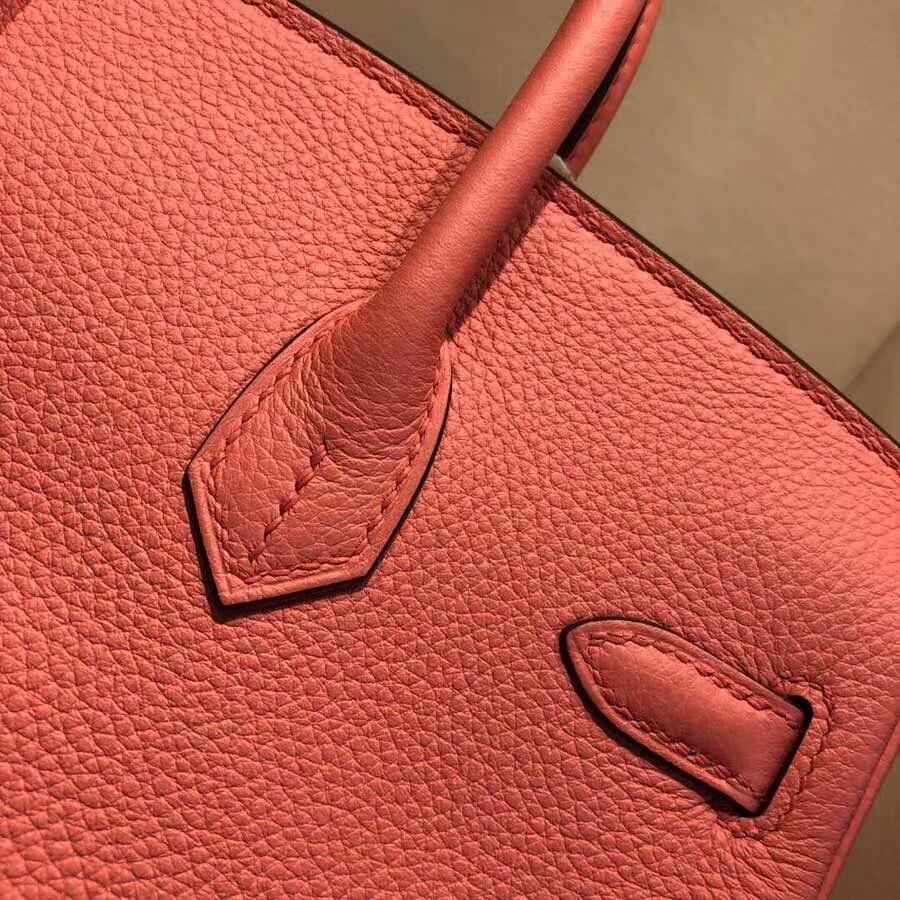 爱马仕铂金包 Birkin25cm Togo I5 Fiamingo 火烈鸟粉 金扣 必不可少的经典款