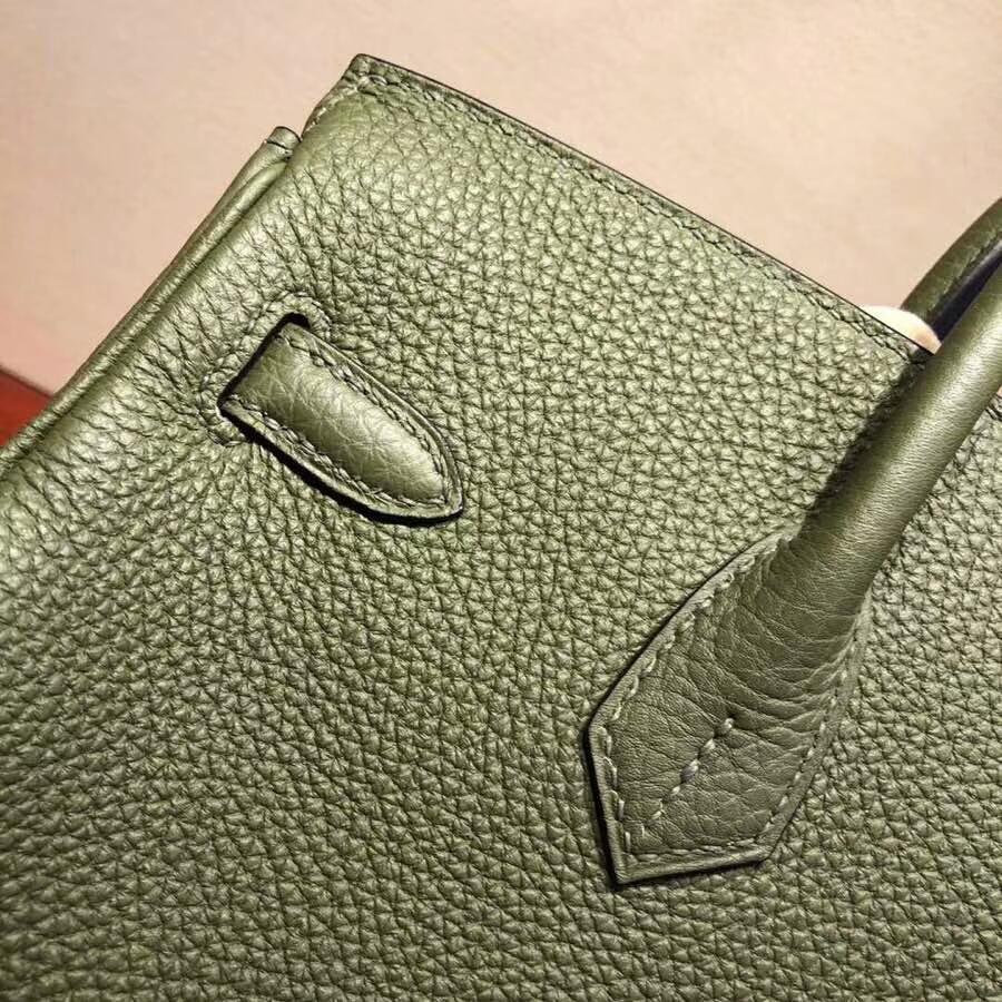 爱马仕铂金包 Birkin25cm Togo V6 Cacncpee 丛林绿 金扣 必不可少的经典款
