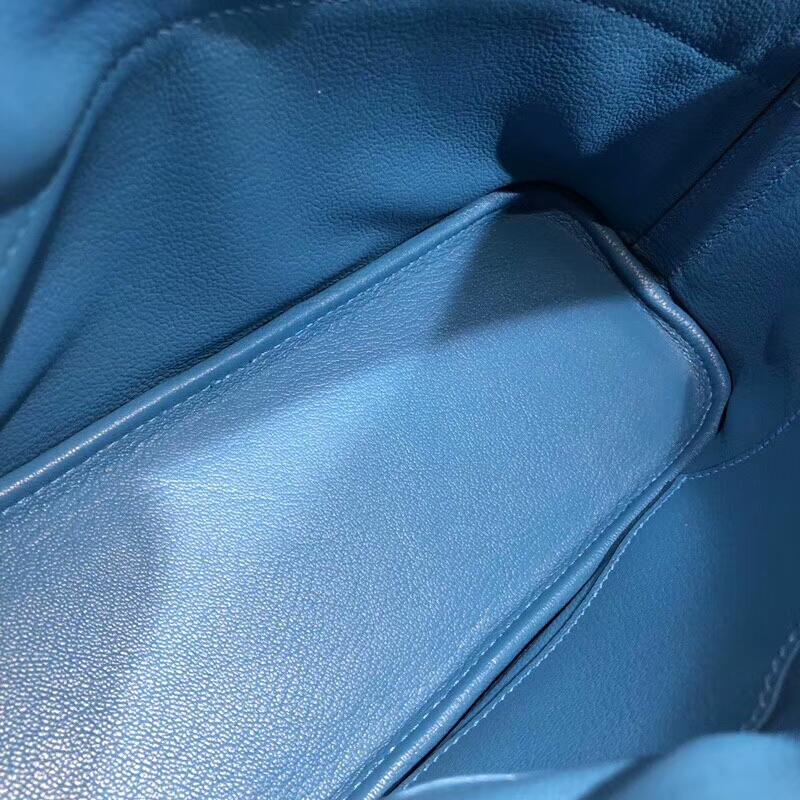 爱马仕包包批发 Bolide 27cm Swift T7 Blue Hydra 水妖蓝 银扣 顶级工艺