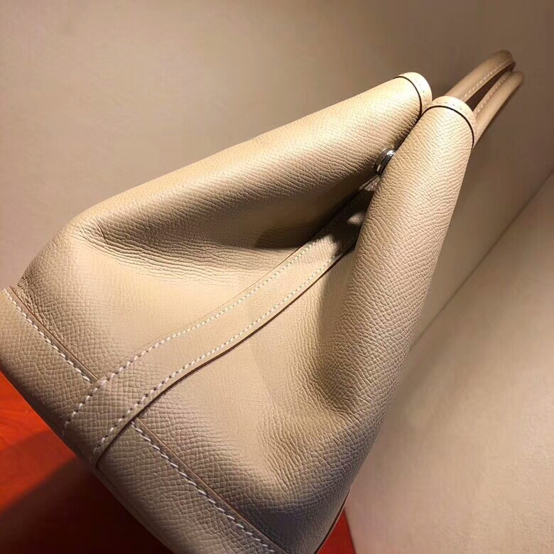 爱马仕花园包 Garden Party 36cm Negonda S2 Trench 风衣灰 银扣 顶级工艺手缝蜡线
