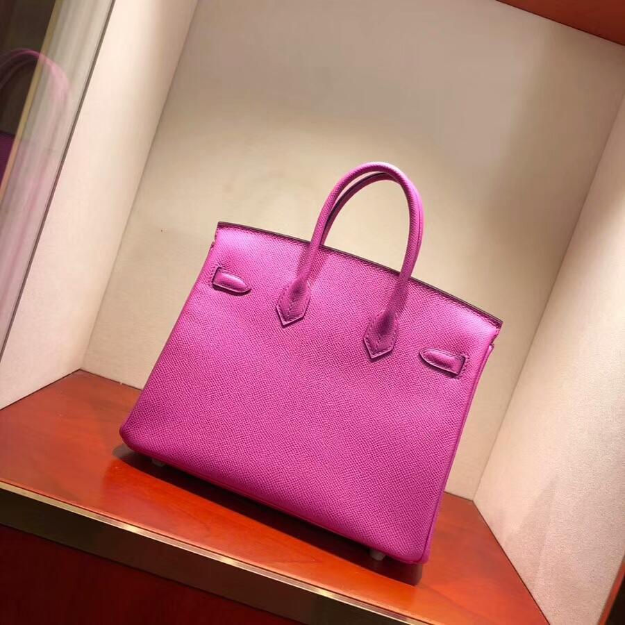 爱马仕铂金包 Birkin 25cm Epsom L3 Rose Purple 玫瑰紫 金扣 18年早春新色
