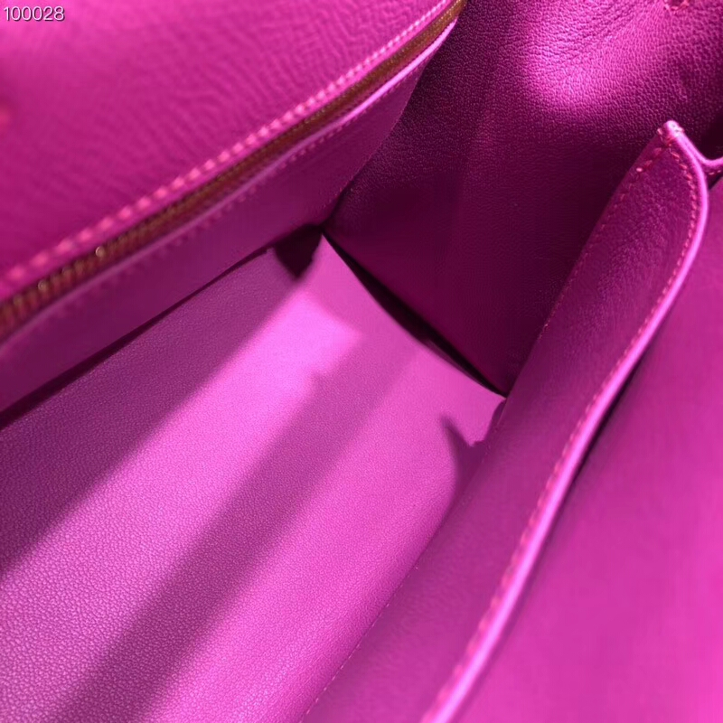 爱马仕包包批发 Kelly 25cm Epsom 9i Magnolia 玉兰粉紫 金扣 2018早春新色