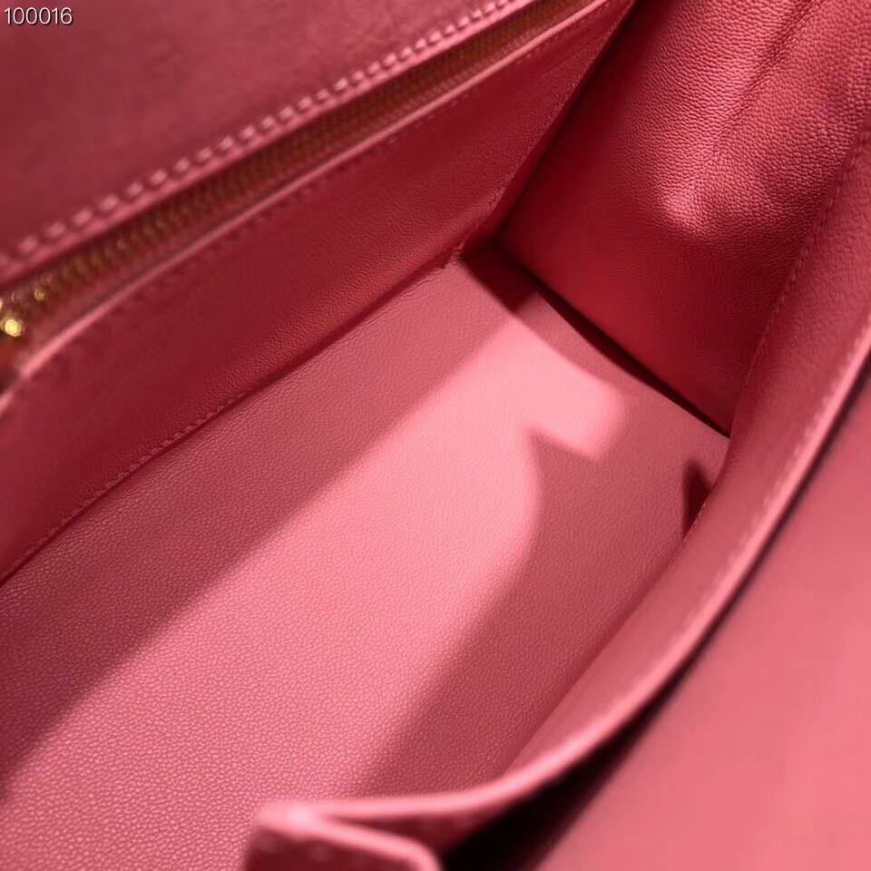 爱马仕包包批发 Kelly 25cm Ostrich Leather 94 Terre Cuite 陶瓷粉 金扣 超级百搭小可爱