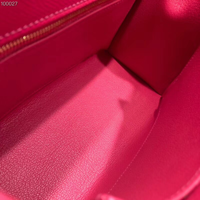 爱马仕包包批发 Kelly 25cm Epsom I6 Rose Extreme 极致粉 金扣 2018早春新色