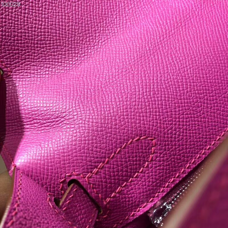 爱马仕包包批发 Kelly 25cm Epsom 9i Magnolia 玉兰粉紫 银扣 2018早春新色