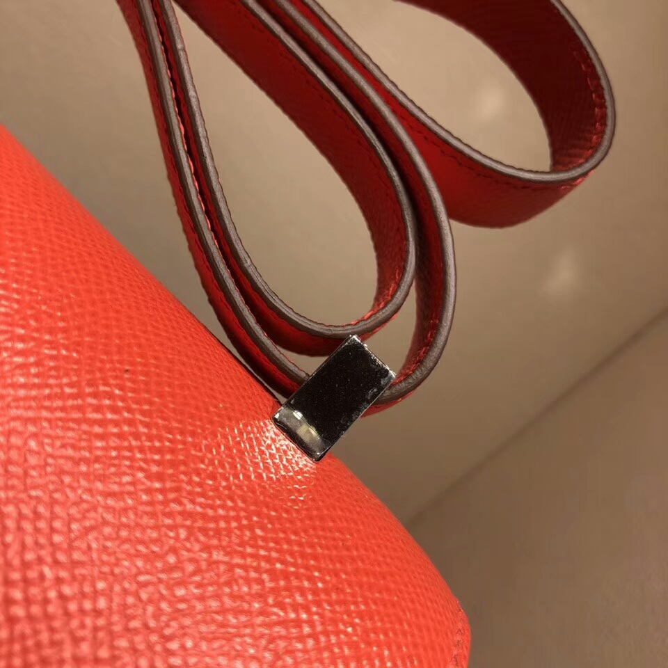 Hermes空姐包 Constance 24cm Epsom T5 Rose Jaipur 普尔斋粉 西瓜红 银扣 顶级工艺
