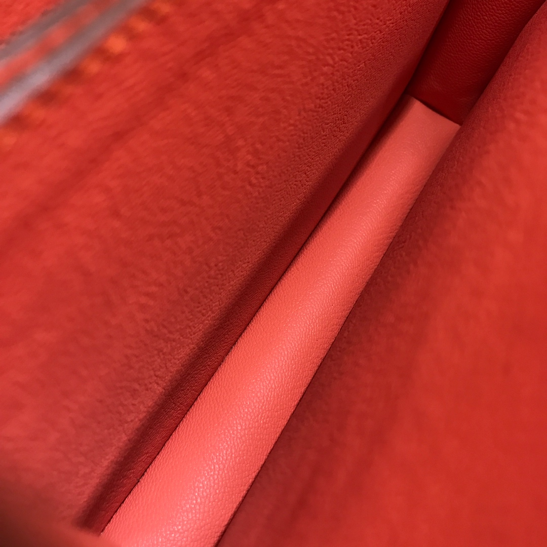 爱马仕猪鼻子包 Roulis 24cm Swift I5 Fiamingo 火烈鸟粉 金扣 顶级工艺手缝蜡线
