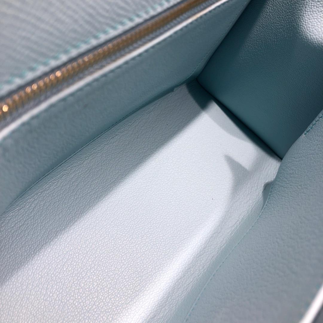 Hermes凯莉包 Kelly 25Cm Epsom U2 Blue Zephyr 微风蓝 金扣 顶级工艺 手缝蜡线