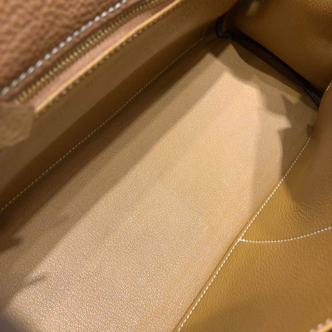 Hermes爱马仕 Kelly 32cm Togo 37 Gold 金棕 金扣 顶级工艺手缝蜡线