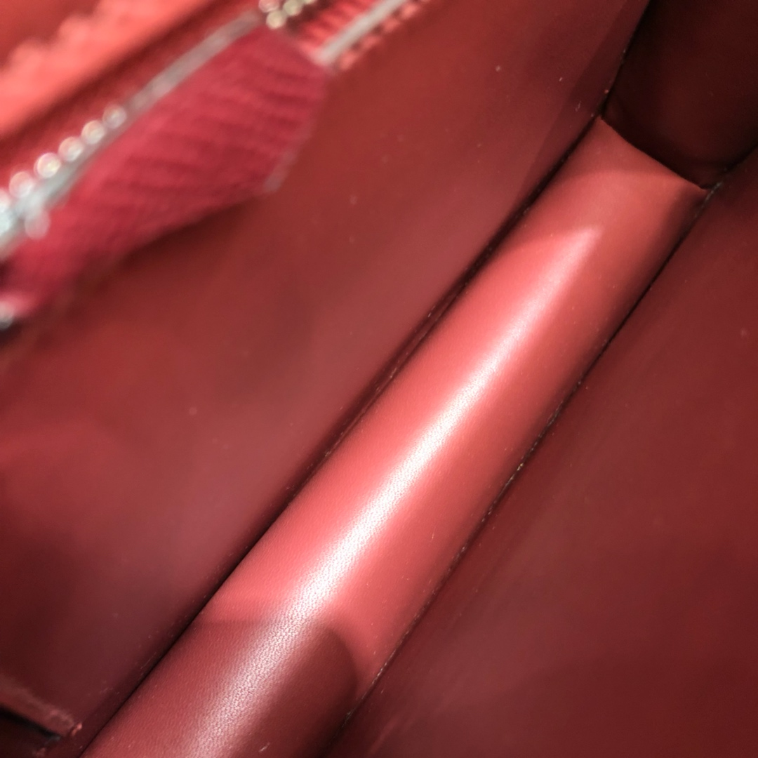 Hermes空姐包 Constance 24cm Epsom 55 Rouge H 爱马仕红 珐琅银扣 顶级工艺