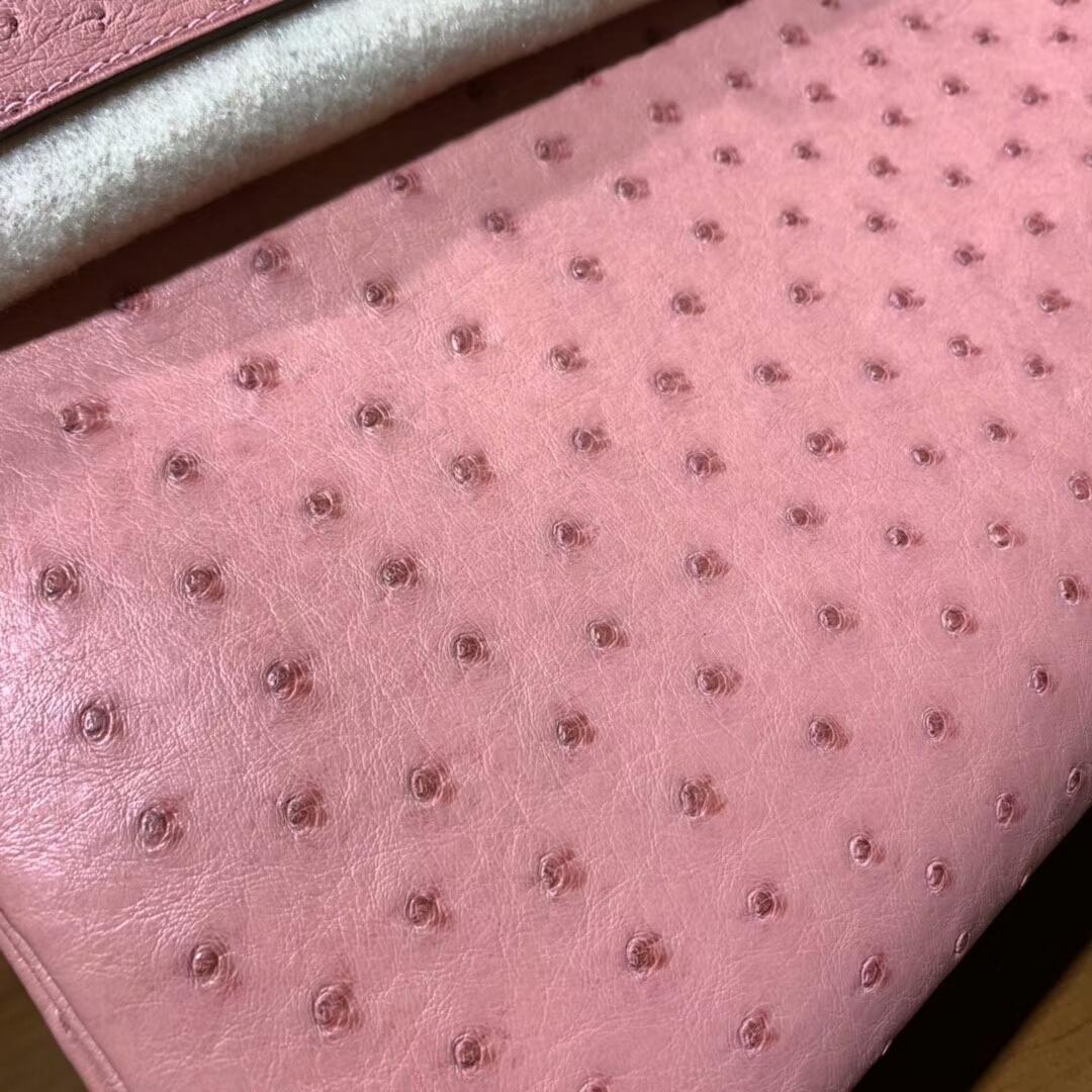 爱马仕铂金包 Birkin 30cm 1Q Rose Conpetti 奶昔粉 银扣 蜜蜡线纯手缝