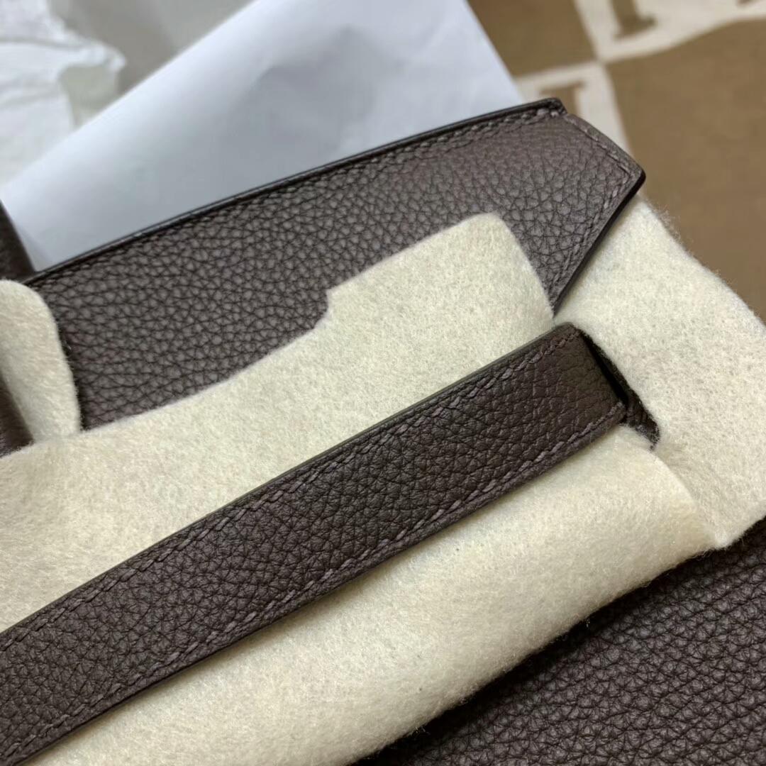 爱马仕铂金包 Birkin 35cm Togo小牛 47 Chocolat 朱古力 深啡 银扣 顶级工艺 手缝蜡线
