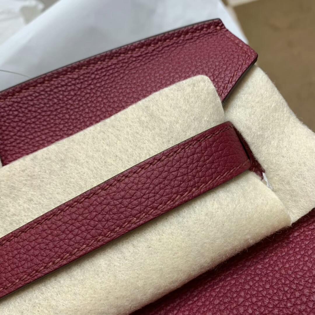 爱马仕铂金包 Birkin 35cm Togo小牛 K1 Rouge Grenat 石榴红 金扣 顶级工艺 手缝蜡线