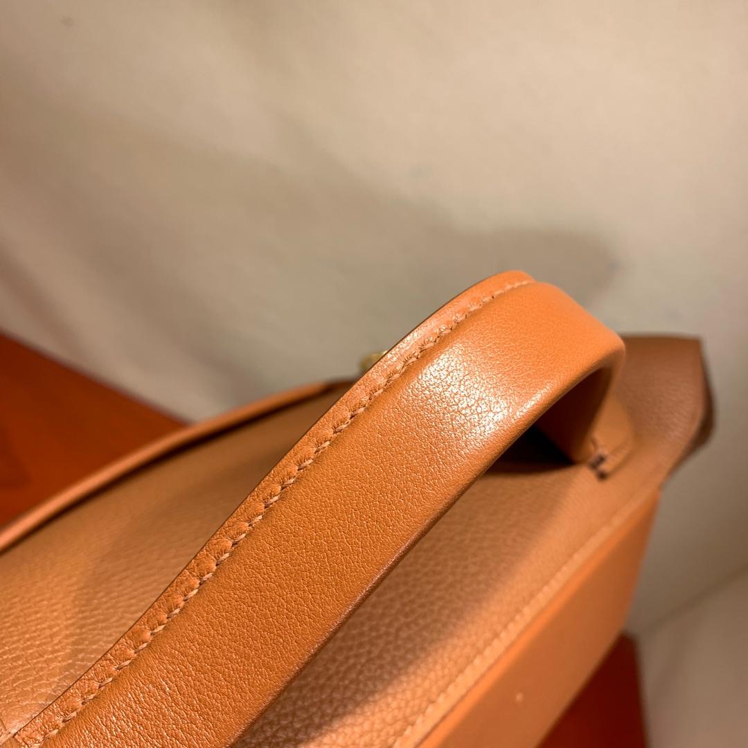 爱马仕包包 24-24Kelly 29cm 法国原产Togo 37 Gold 金棕 金扣 Birkin和Kelly的集合体