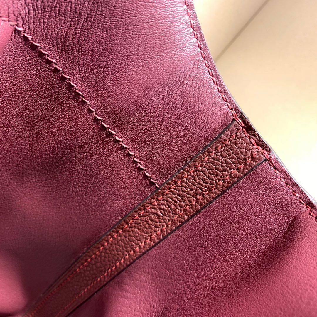 爱马仕包包 24-24Kelly 29cm 法国原产Togo 57 Bordeaux 波尔多酒红 金扣 Birkin和Kelly的集合体