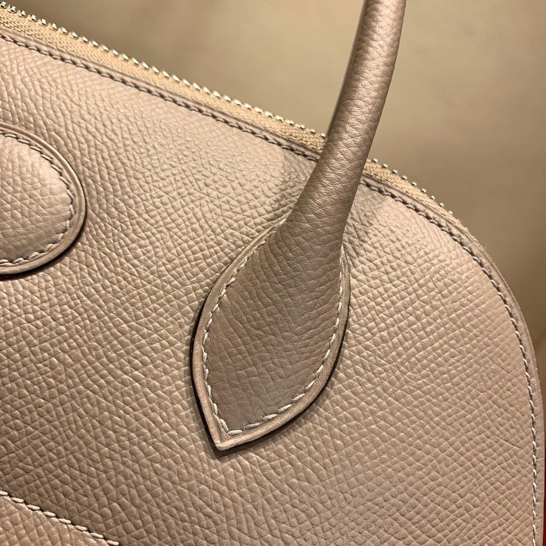 爱马仕包包 Bolide 27cm 法国顶级Epsom M8 Gris Asphalte 沥青灰 银扣 顶尖工艺手缝蜡线